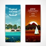 Tropical island vertical banners Stock Photo