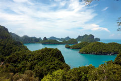 Tropical island view Stock Images