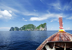Tropical island view from boat Stock Images