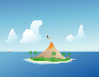 Tropical Island Volcano Stock Images