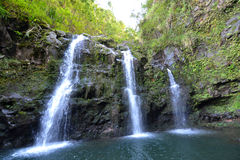 Tropical Island Waterfalls. Tropical waterfalls on the island of Maui, Hawaii, USA Stock Photography