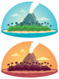 Tropical Island on White Royalty Free Stock Photos