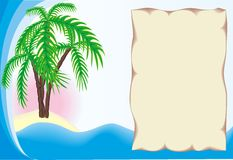 Tropical Island With Frame Stock Photography