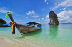 Tropical island01. Tropical island near Karbi in the South of Thailand Stock Photo