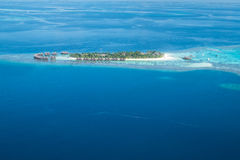 Tropical islands and atolls in Maldives Royalty Free Stock Photo