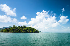 Tropical islands with beautiful cloud in thailand Royalty Free Stock Image