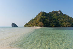 Tropical islands. Tropical island and cristal clear water of Indian ocean Stock Photo