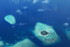Tropical islands of maldives Royalty Free Stock Images