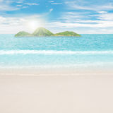Tropical islands in ocean Royalty Free Stock Images