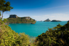 Tropical islands off the coast of Thailand Royalty Free Stock Images