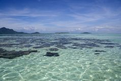 Tropical Islands and Open Sea stock images