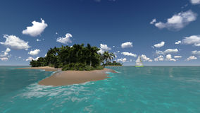 Tropical islands in sea Royalty Free Stock Photo