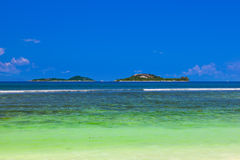 Tropical islands at Seychelles Royalty Free Stock Photography