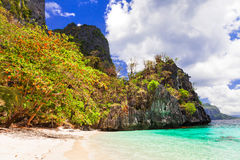 Tropical islands - unique nature and beaches of Philippines, El Stock Photos