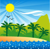 Tropical Isle background vector illustration