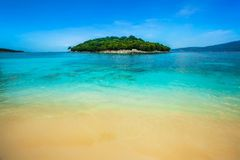 Tropical isnland in ocean royalty free stock photography