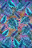 Tropical IX - abstract geometric design stock photo