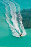 Tropical Jet Skis. Seadoos, jetskis, and watercraft on the blue caribbean ocean at a resort hotel in cancun mexico Stock Images