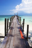 Tropical jetty in paradise. Royalty Free Stock Photography