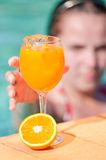 Tropical Juice By The Pool Stock Images
