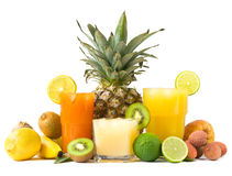 Tropical Juices Royalty Free Stock Photography