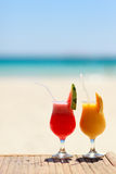 Tropical juices Stock Photos