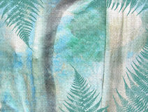 Tropical jungle floral grunge pattern. Abstract textured background. Royalty Free Stock Image