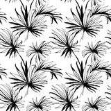 Tropical jungle floral seamless  pattern background with palm le Stock Photography