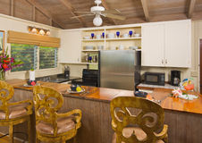 Tropical Kitchen Interior Stock Photography