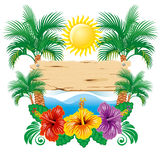 Tropical label Stock Photos