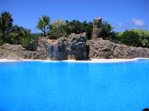 Tropical Lagoon. And beach area Stock Photo