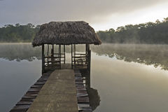 Tropical lagoon in Guatemala Stock Images