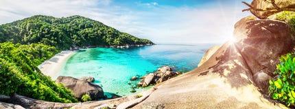 Tropical lagoon island Stock Image