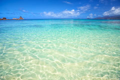 Tropical lagoon in Seychelles Stock Photo