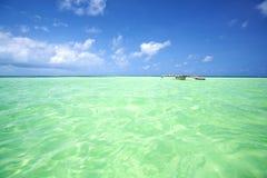 Tropical lagoon in Zanzibar Royalty Free Stock Image