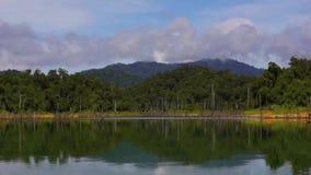 Tropical lake at Tasik Kenyir stock video footage