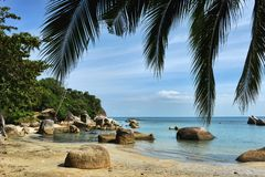 Tropical Lamai beach, Thailand Royalty Free Stock Photos