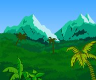 Tropical Landscape Background. Stock Photography