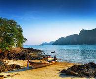 Tropical landscape. Beach of Phi Phi Island, Thailand Royalty Free Stock Images