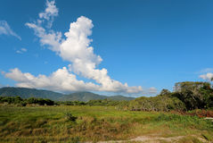 Tropical landscape with cloud Royalty Free Stock Photo