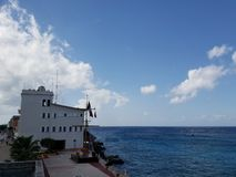 tropical landscape in Cozumel island, Mexico stock photography