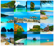 Tropical landscape. The island at Andaman sea, Thailand Stock Images