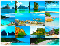 Tropical landscape. The island at Andaman sea, Thailand Royalty Free Stock Photography