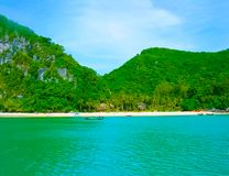 Tropical landscape. The island at Andaman sea, Thailand Royalty Free Stock Image