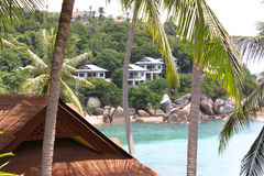 Tropical landscape on the island of Koh Samui Stock Photos