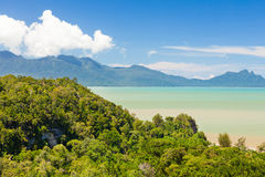 Tropical landscape over jungle and hills Stock Photography