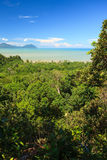 Tropical landscape over jungle and hills Royalty Free Stock Photography