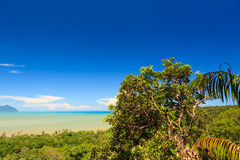 Tropical landscape over jungle and hills Royalty Free Stock Photos