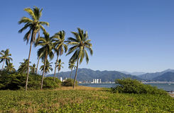 Tropical landscape on the Pacific coast Royalty Free Stock Image