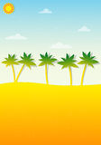 Tropical landscape with palm trees Royalty Free Stock Images
